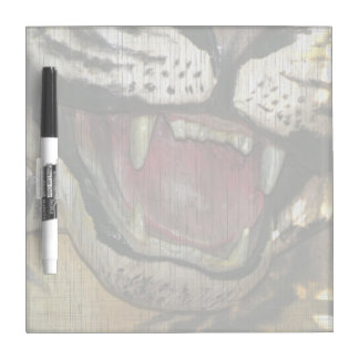 Open tiger mouth grunged image Dry-Erase boards