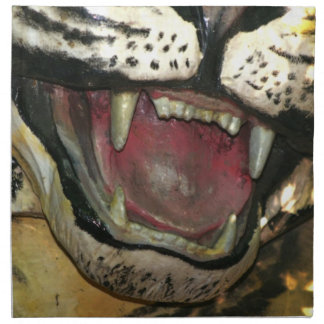 Open tiger mouth statue cloth napkins