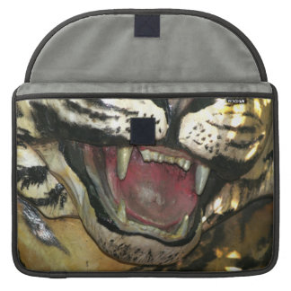 Open tiger mouth statue sleeves for MacBooks