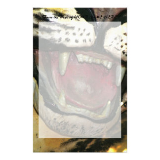 Open tiger mouth statue stationery