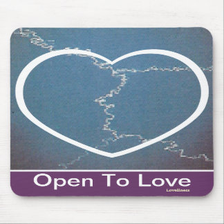 Open To Love Mousepad-Customize.