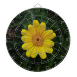 Open to love yellow chamomile dart boards
