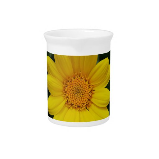 Open to love yellow chamomile drink pitcher