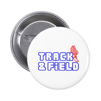 OPEN TRACK AND FIELD WITH SHOE PINBACK BUTTON