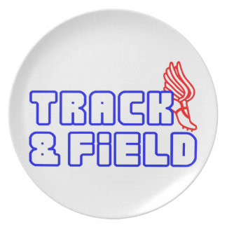 OPEN TRACK AND FIELD WITH SHOE DINNER PLATES
