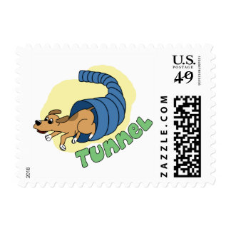 Open Tunnel Agility Postage Stamps