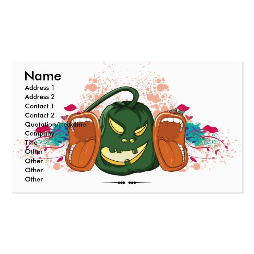 open up and say HALLOWEEN retro vector design Business Cards