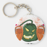 open up and say HALLOWEEN retro vector design Keychain