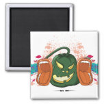 open up and say HALLOWEEN retro vector design Magnets
