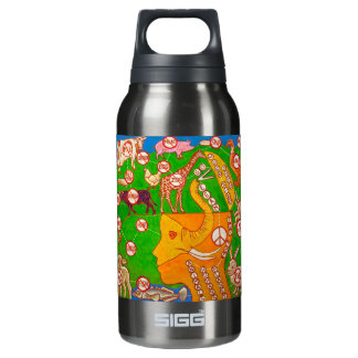 Open Vegan our mind for peace Insulated Water Bottle