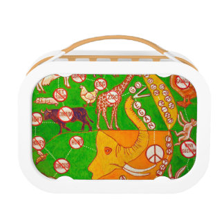 Open Vegan our mind Lunch Box