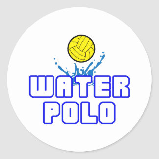 OPEN WATER POLO BALL CLASSIC ROUND STICKER
