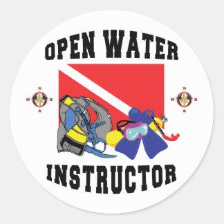 Open Water SCUBA Instructor Classic Round Sticker