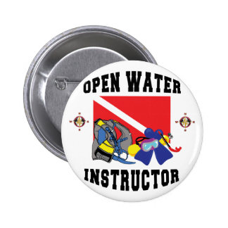 Open Water SCUBA Instructor Pinback Button