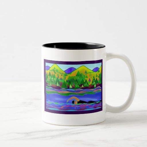 Open Water Solo Two-Tone Coffee Mug