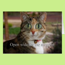 Open wide for the surgeon - Eye Surgery Card