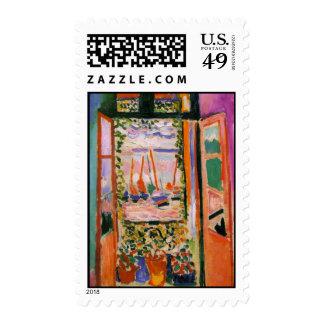 Open Window Collioure Stamp