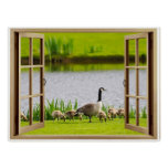 Open Window Mama Goose Poster