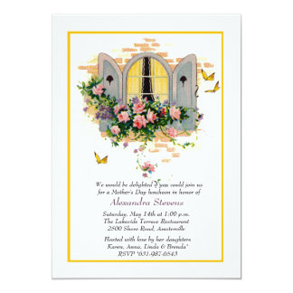 Open Window Mother's Day Invitation