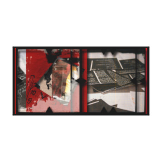 Open Work about Open Red 11 Canvas Photomontage