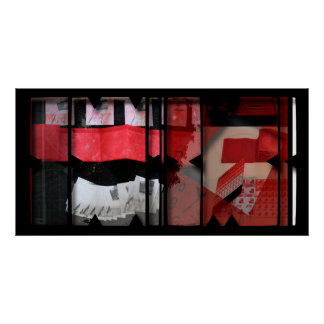 Open Work about Open Red 19 Photomontage Poster