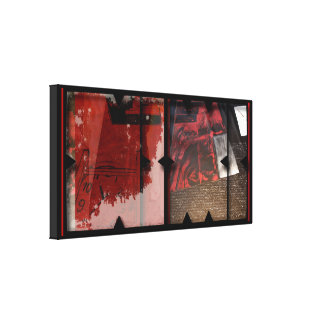 Open Work about Open Red 7 Photomontage Canvas
