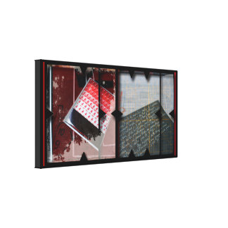 Open Work about Open Red 9 Photomontage Canvas