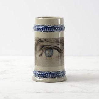 Open Your Eye stein 18 Oz Beer Stein