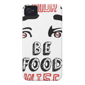 Open Your Eyes Be Food Wise iPhone 4 Case