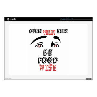 """Open Your Eyes Be Food Wise Skin For 17"""" Laptop"""