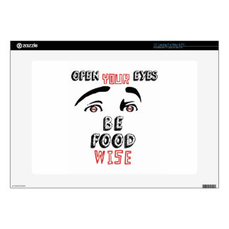 Open Your Eyes Be Food Wise Skin For Laptop