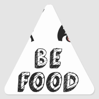 Open Your Eyes Be Food Wise Triangle Sticker