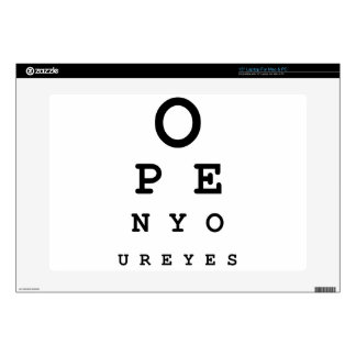 Open Your Eyes Decal For Laptop