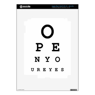 Open Your Eyes Decals For iPad 3