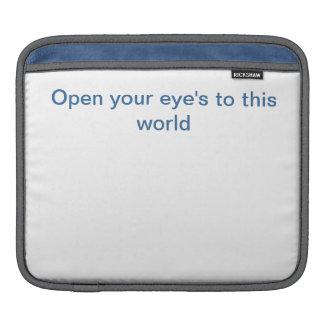 Open your Eyes iPad Sleeve