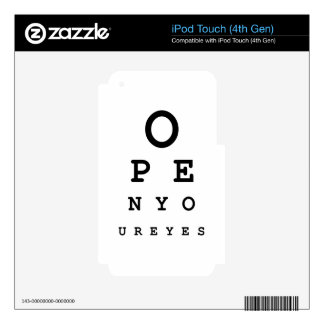 Open Your Eyes iPod Touch 4G Skins
