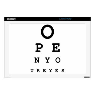 Open Your Eyes Laptop Decals