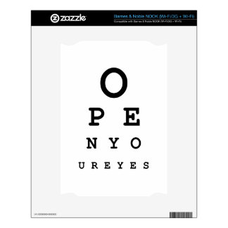 Open Your Eyes NOOK Decal