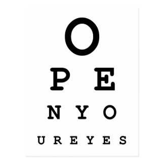 Open Your Eyes Postcard