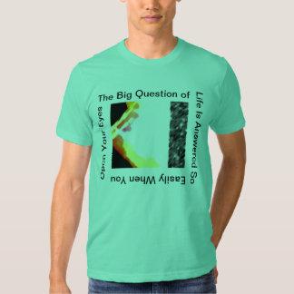 Open Your Eyes  Sea Green T-Shirt