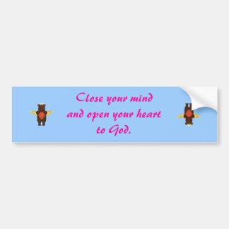 Open your heart bumper sticker