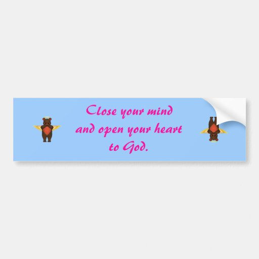 Open your heart bumper sticker