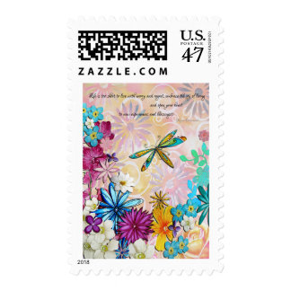 Open Your Heart Floral Postage