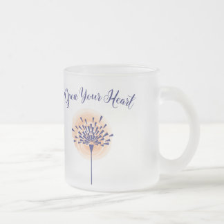 Open your Heart Frosted Mug