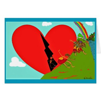 Open Your Heart Inspirational Greeting Card