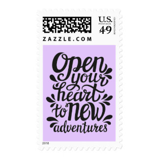 Open Your Heart To New Adventures Postage