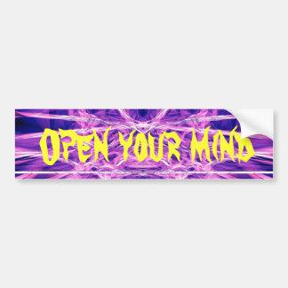 Open Your mind Bumper sticker Car Bumper Sticker