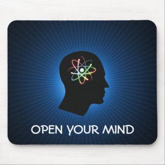 OPEN YOUR MIND - dark blue mousepad