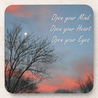 Open your Mind, Heart & Eyes / Inspiration Coasters