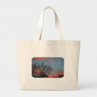 Open your Mind, Heart & Eyes / Inspiration Large Tote Bag